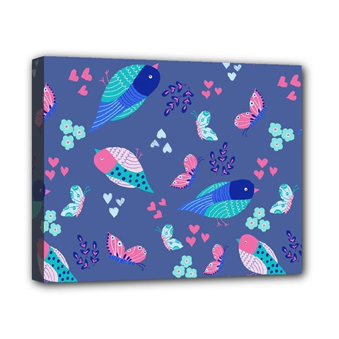 Birds And Butterflies Canvas 10  X 8  by BangZart