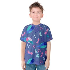 Birds And Butterflies Kids  Cotton Tee