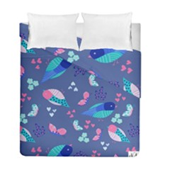 Birds And Butterflies Duvet Cover Double Side (full/ Double Size)
