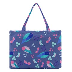 Birds And Butterflies Medium Tote Bag by BangZart