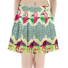 Several Wolves Album Pleated Mini Skirt