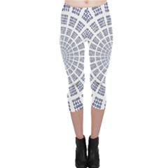 Illustration Binary Null One Figure Abstract Capri Leggings