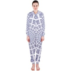 Illustration Binary Null One Figure Abstract Hooded Jumpsuit (ladies)