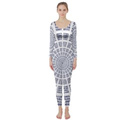 Illustration Binary Null One Figure Abstract Long Sleeve Catsuit