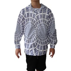 Illustration Binary Null One Figure Abstract Hooded Wind Breaker (kids)