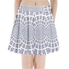Illustration Binary Null One Figure Abstract Pleated Mini Skirt