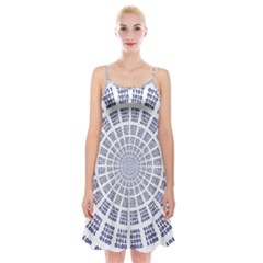 Illustration Binary Null One Figure Abstract Spaghetti Strap Velvet Dress