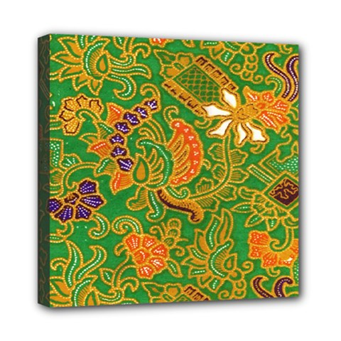 Art Batik The Traditional Fabric Mini Canvas 8  X 8  by BangZart