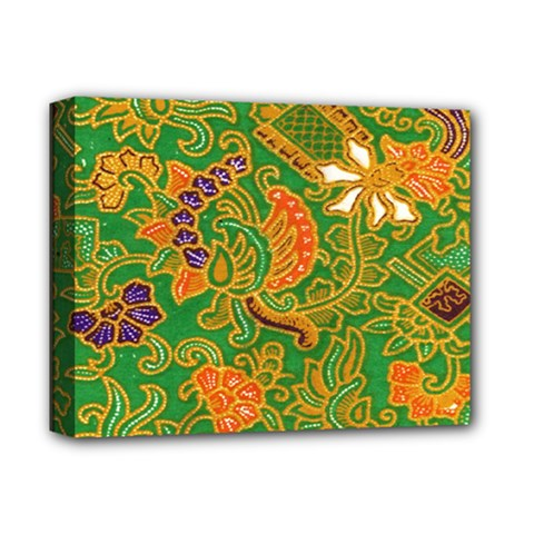 Art Batik The Traditional Fabric Deluxe Canvas 14  X 11  by BangZart