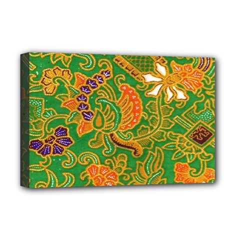 Art Batik The Traditional Fabric Deluxe Canvas 18  X 12   by BangZart