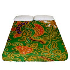 Art Batik The Traditional Fabric Fitted Sheet (queen Size) by BangZart
