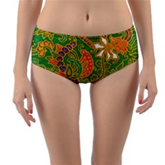 Art Batik The Traditional Fabric Reversible Mid Waist Bikini Bottoms