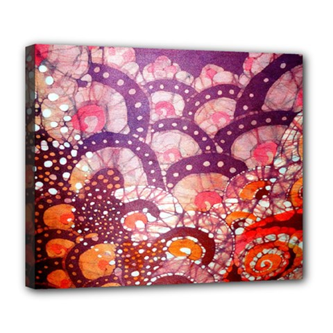Colorful Art Traditional Batik Pattern Deluxe Canvas 24  X 20