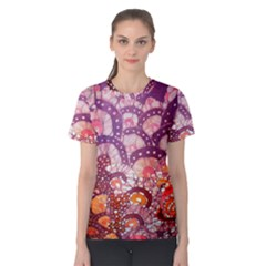Colorful Art Traditional Batik Pattern Women s Cotton Tee