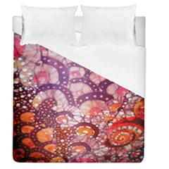 Colorful Art Traditional Batik Pattern Duvet Cover (queen Size) by BangZart