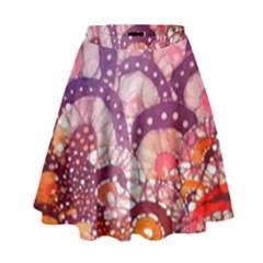 Colorful Art Traditional Batik Pattern High Waist Skirt by BangZart
