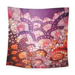 Colorful Art Traditional Batik Pattern Square Tapestry (large)