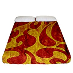 Abstract Pattern Fitted Sheet (queen Size) by BangZart