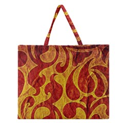 Abstract Pattern Zipper Large Tote Bag by BangZart