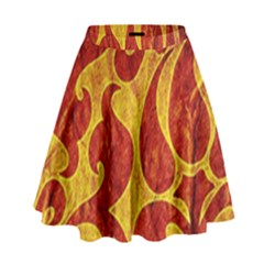 Abstract Pattern High Waist Skirt