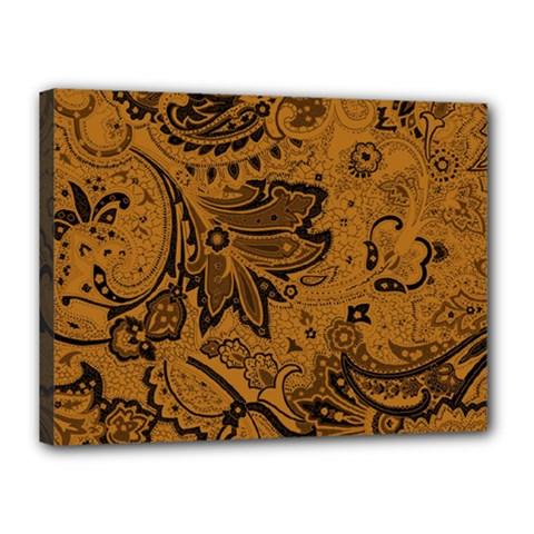 Art Traditional Batik Flower Pattern Canvas 16  X 12  by BangZart