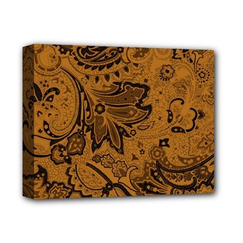 Art Traditional Batik Flower Pattern Deluxe Canvas 14  X 11  by BangZart