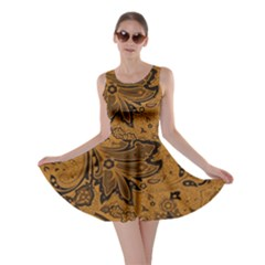 Art Traditional Batik Flower Pattern Skater Dress
