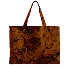 Art Traditional Batik Flower Pattern Zipper Mini Tote Bag by BangZart