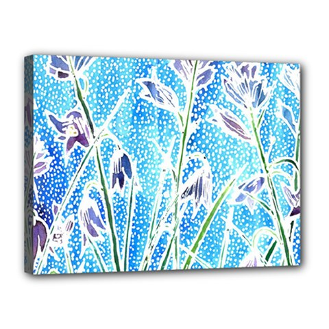 Art Batik Flowers Pattern Canvas 16  X 12  by BangZart