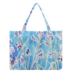 Art Batik Flowers Pattern Medium Tote Bag by BangZart