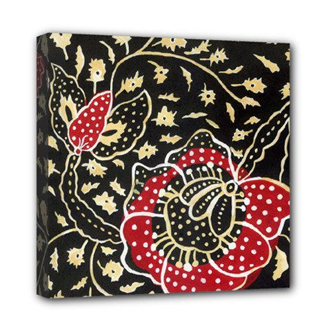 Art Batik Pattern Mini Canvas 8  X 8