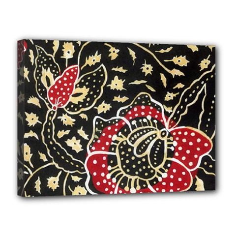 Art Batik Pattern Canvas 16  X 12