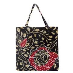 Art Batik Pattern Grocery Tote Bag by BangZart