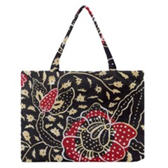Art Batik Pattern Medium Zipper Tote Bag