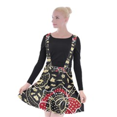 Art Batik Pattern Suspender Skater Skirt