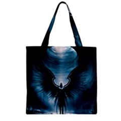 Rising Angel Fantasy Zipper Grocery Tote Bag by BangZart