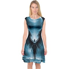Rising Angel Fantasy Capsleeve Midi Dress