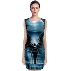 Rising Angel Fantasy Sleeveless Velvet Midi Dress