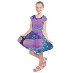 Rising To Touch You Kids  Short Sleeve Dress by Dimkad