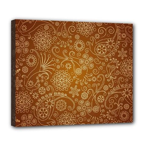 Batik Art Pattern Deluxe Canvas 24  X 20   by BangZart