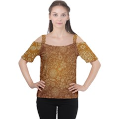 Batik Art Pattern Cutout Shoulder Tee
