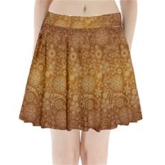 Batik Art Pattern Pleated Mini Skirt