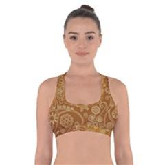 Batik Art Pattern Cross Back Sports Bra