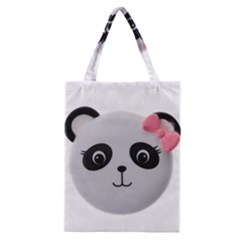 Pretty Cute Panda Classic Tote Bag by BangZart
