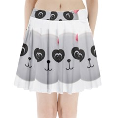 Pretty Cute Panda Pleated Mini Skirt