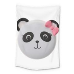 Pretty Cute Panda Small Tapestry