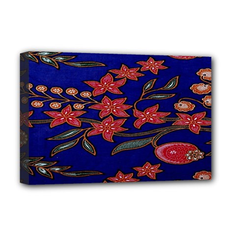 Batik  Fabric Deluxe Canvas 18  X 12   by BangZart