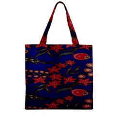 Batik  Fabric Zipper Grocery Tote Bag by BangZart