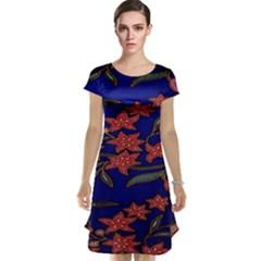 Batik  Fabric Cap Sleeve Nightdress