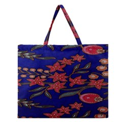 Batik  Fabric Zipper Large Tote Bag by BangZart